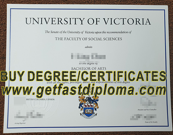 University of Victoria Degree sample
