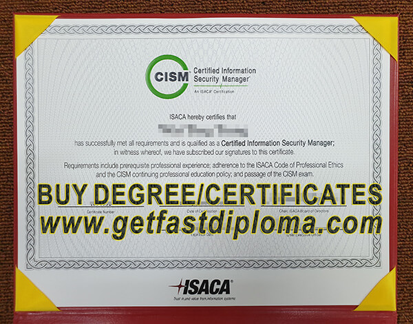 certificate cism singapore fake security purchase certified certification sample manager