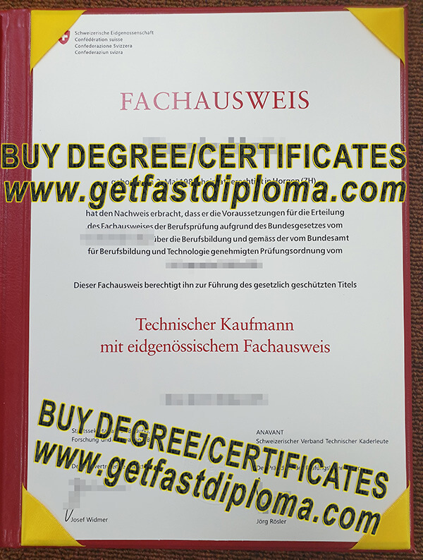 Swiss qualification certificate sample