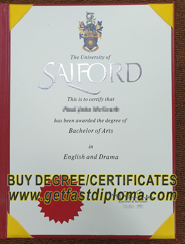 University of Salford degree sample