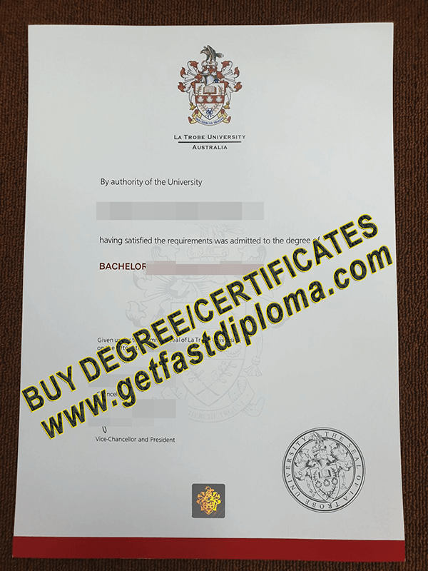 La Trobe University diploma sample