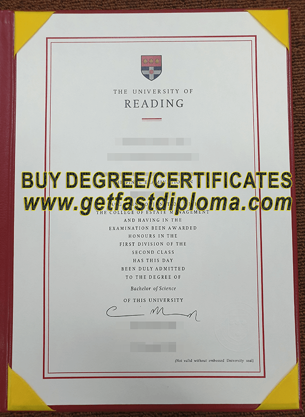University of Reading diploma SAMPLE