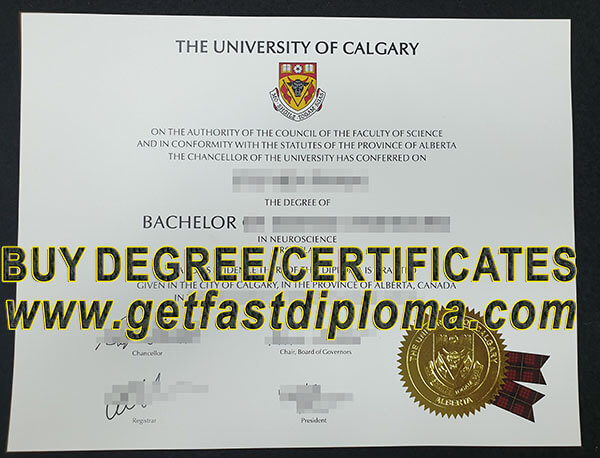 University Of Calgary Fake Degree sample
