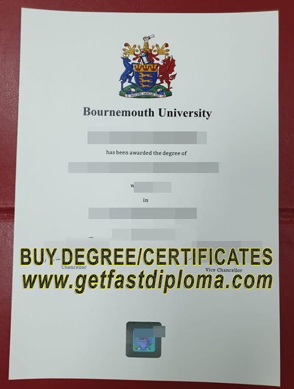 Bournemouth University Degree   free sample from getfastdiploma.com
