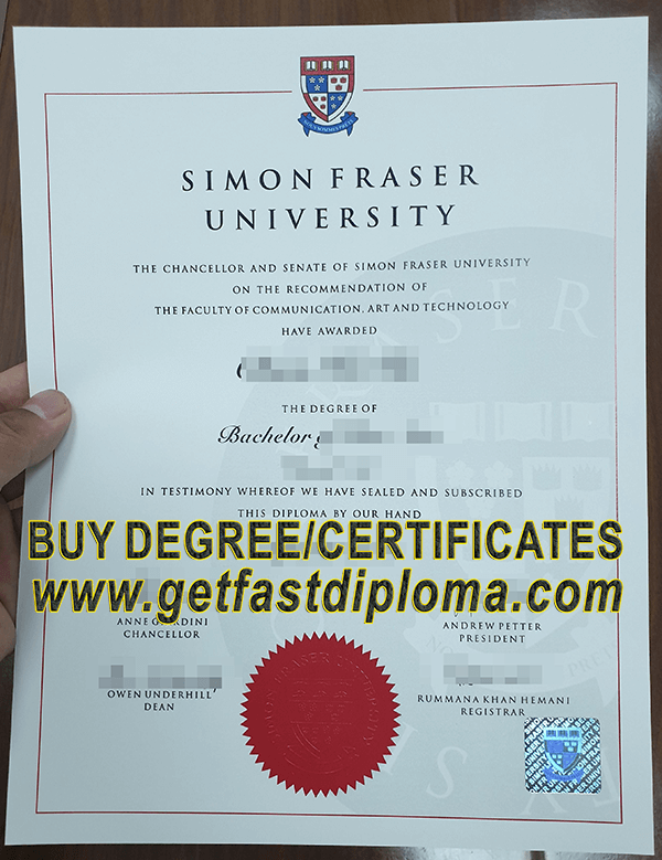 SFU fake degree sample
