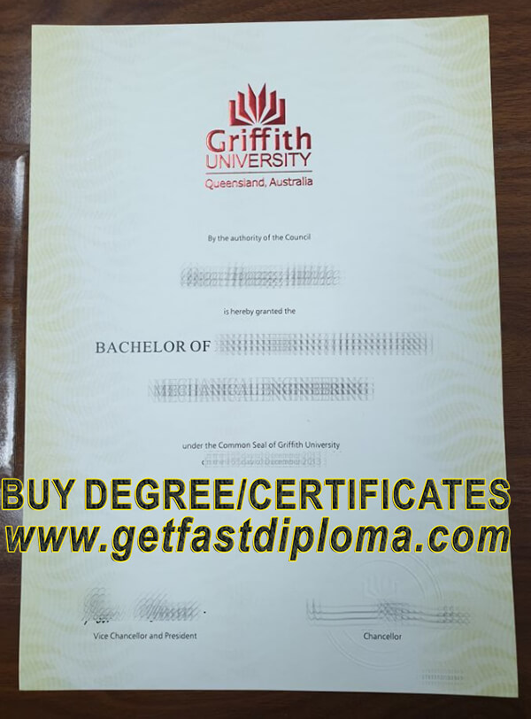Griffith University fake diploma