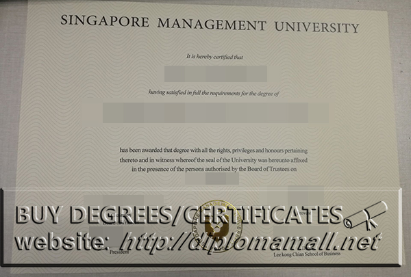 Buy Singapore Management University(SMU) degree certificate