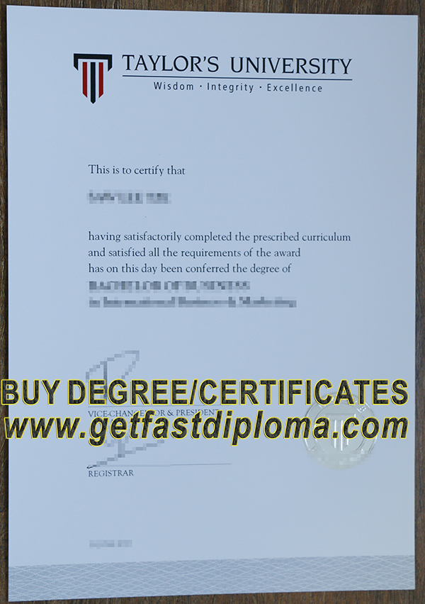 where to buy Taylor's University fake certificate?