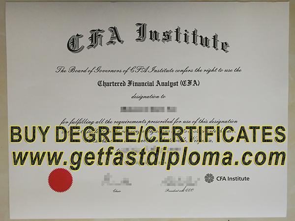cfa certificate fake institute obtain diploma